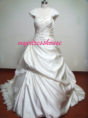 Myedresshouse Hauter Couture Duchess Satin Ballgown Wedding Dress