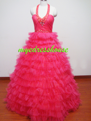 Myedresshouse Hauter Couture Pink Tulle Cake Dress