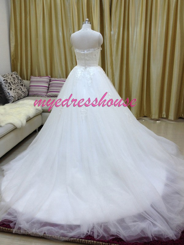 Myedresshouse Hauter Couture Lace Tulle Ballgown Wedding Dress