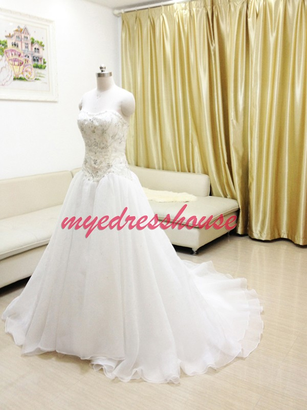 Myedresshouse Hauter Couture Princess Waist A-line Wedding Dress