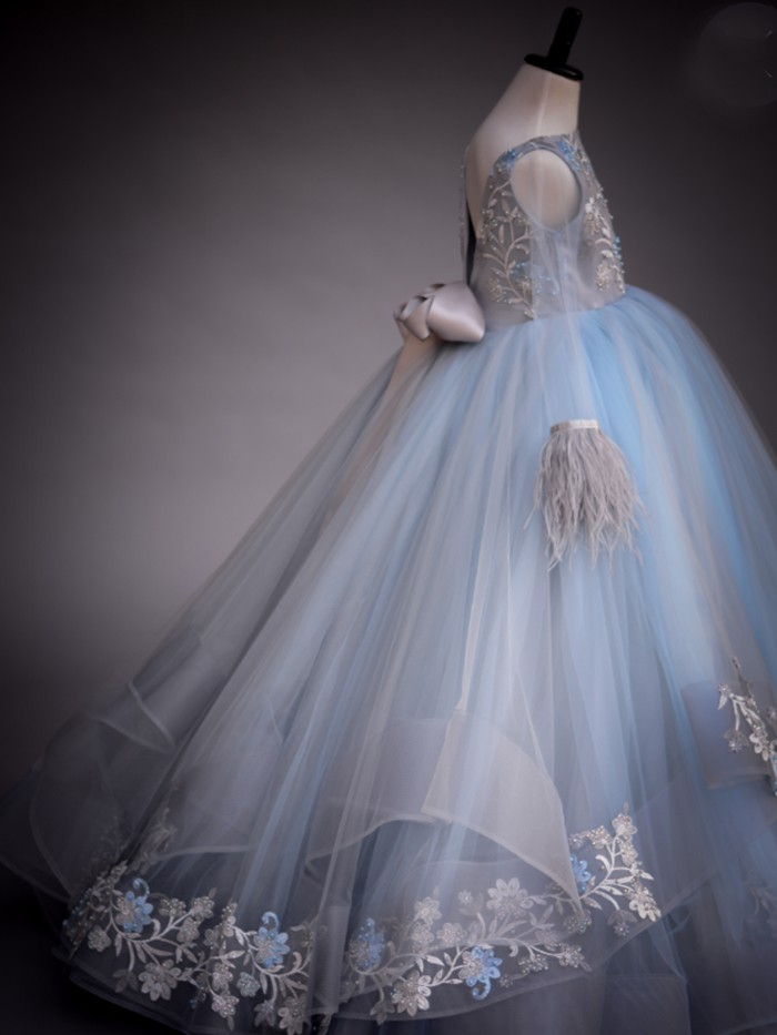 Whispy Blue Inspired By AnnaTriant Couture Luxury Childern Couture Dress