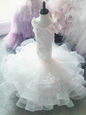 Swan Inspired By AnnaTriant Couture Luxury Childern Couture Dress