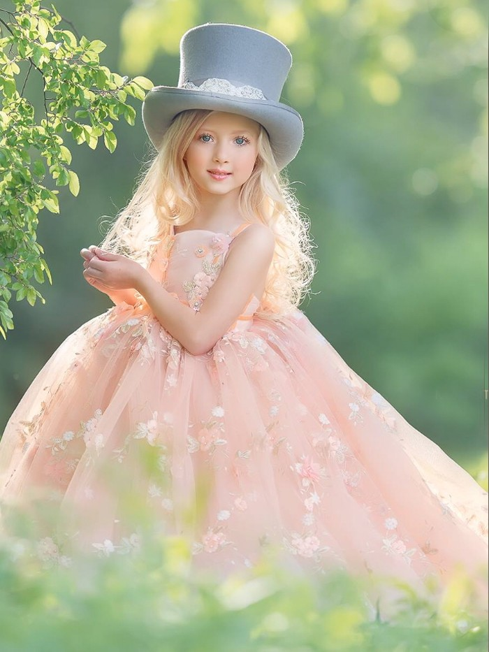 Sunshine Meadows Inspired By AnnaTriant Couture Luxury Childern Couture Dress