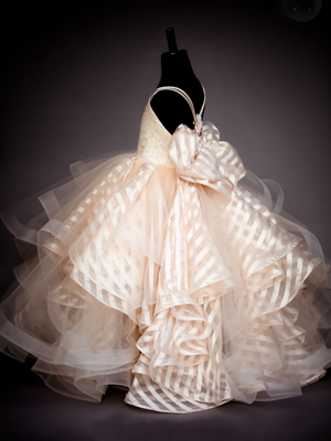 Hayley Champagne Inspired By AnnaTriant Couture Luxury Childern Couture Dress