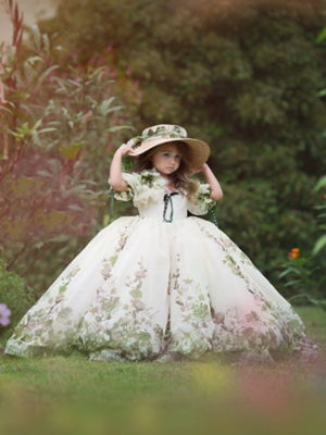 Gone With the Wind Inspired By AnnaTriant Couture Luxury Childern Couture Dress
