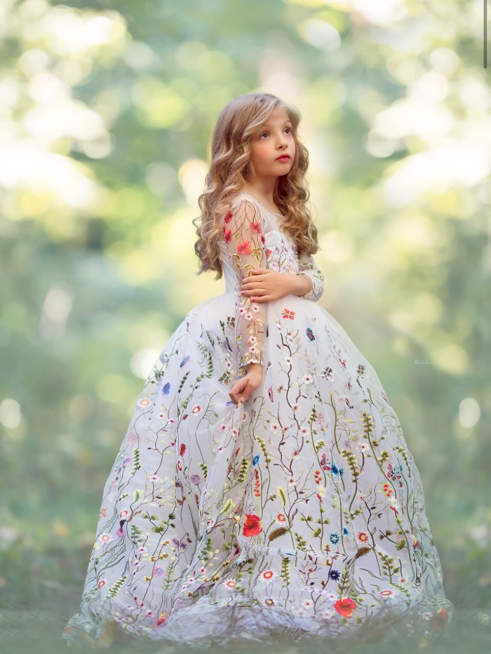Garden Soiree Inspired By AnnaTriant Couture Luxury Childern Couture Dress