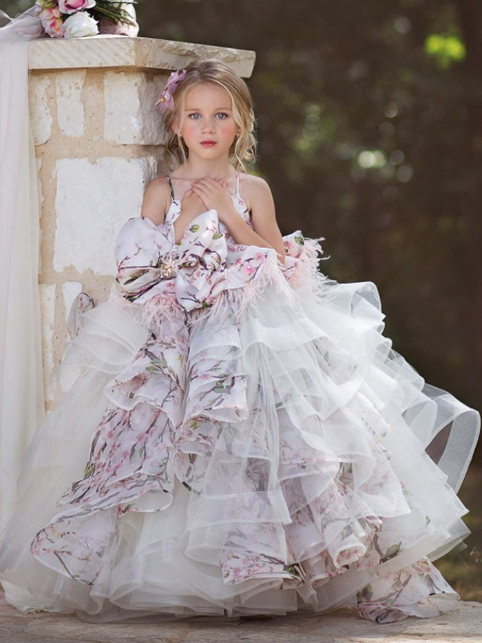 Flourished Inspired By AnnaTriant Couture Luxury Childern Couture Dress