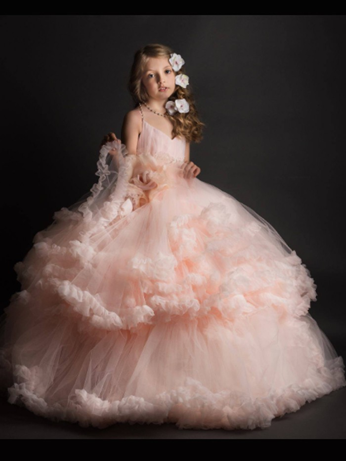 Distant Dreamer Inspired By AnnaTriant Couture Luxury Childern Couture Dress