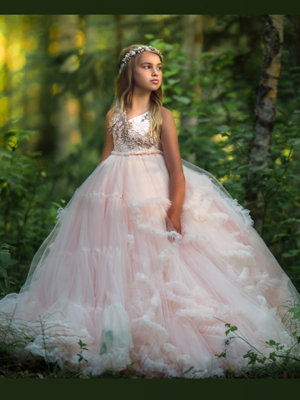 Cloud Nine Inspired By AnnaTriant Couture Luxury Childern Couture Dress