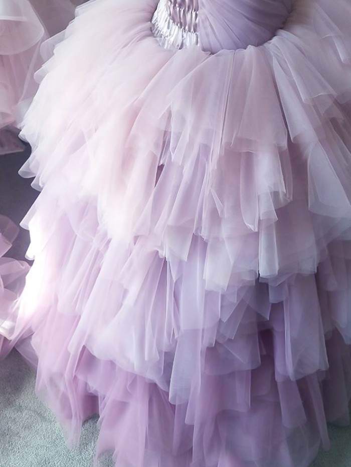Claire-Ice Orchid Ombre Inspired By AnnaTriant Couture Luxury Childern Couture Dress