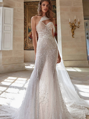 SIMONE Inspirated By Fall 2020 Bridal Couture Collection Fancy White Of Galia Lahav