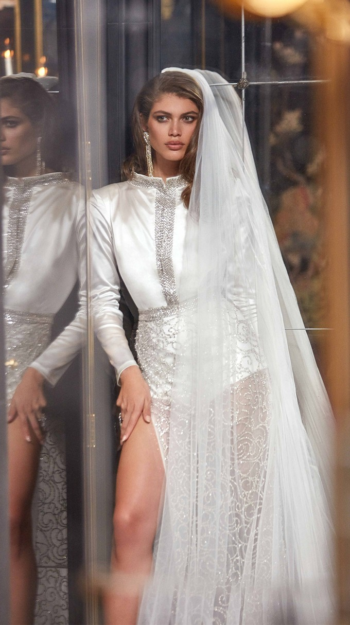 SAMPAIO Inspirated By Fall 2020 Bridal Couture Collection Fancy White Of Galia Lahav