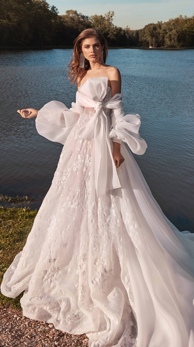 MEGHAN Inspirated By Fall 2020 Bridal Couture Collection Fancy White Of Galia Lahav