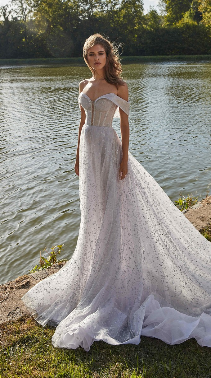 ARETHA Inspirated By Fall 2020 Bridal Couture Collection Fancy White Of Galia Lahav