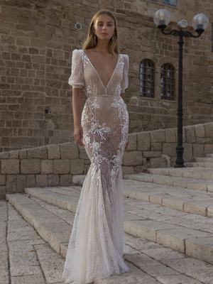 21-P111 Bridal Dress Inspirated By PRIVÉE Of BERTA 2021 No. 5 Collection