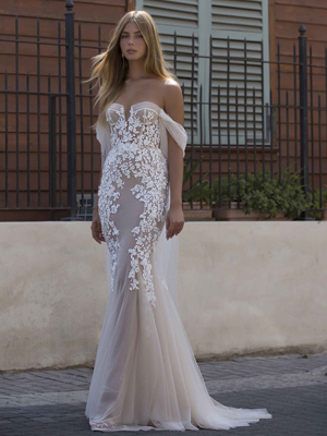 21-P106 Bridal Dress Inspirated By PRIVÉE Of BERTA 2021 No.5 Collection