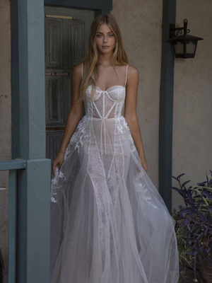 21-P104 Bridal Dress Inspirated By PRIVÉE Of BERTA 2021 No.5 Collection