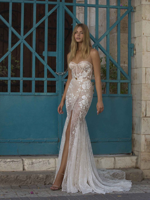 21-P103 Bridal Dress Inspirated By PRIVÉE Of BERTA 2021 No.5 Collection