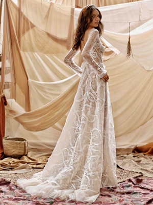 21-Guiliana Bridal Dress Inspirated By Berta Muse2021 Desert Collection