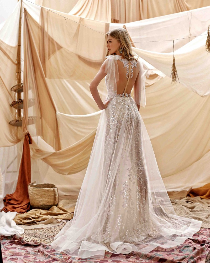 21-Grace Bridal Dress Inspirated By Berta Muse2021 Desert Collection