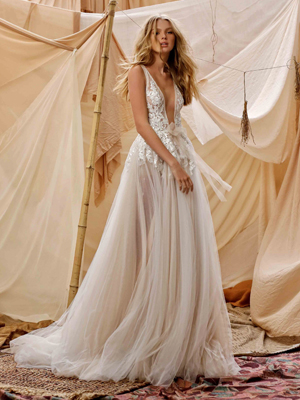21-GISELE Bridal Dress Inspirated By Berta Muse2021 Desert Collection