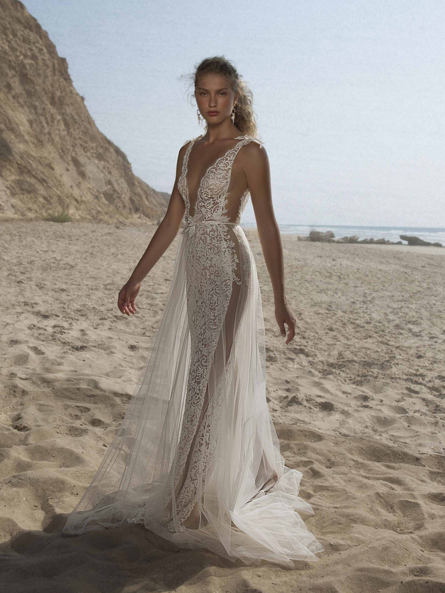 21-HEATHER Bridal Dress Inspirated By Berta Muse 2021 Vista Mare Collection