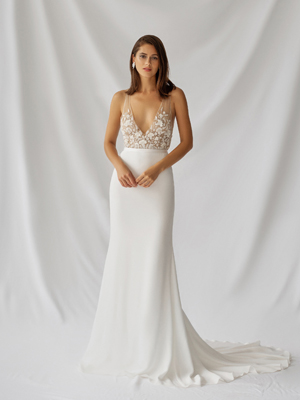 Lilium Gown Inspirated By Botanica of Alexandra Grecco 2021 Bridal Collection