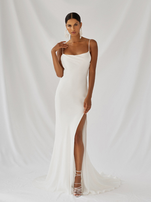 Lotus Gown Inspirated By Botanica of Alexandra Grecco 2021 Bridal Collection