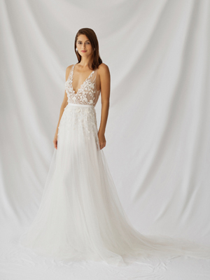 Azalea Gown Inspirated By Botanica of Alexandra Grecco 2021 Bridal Collection