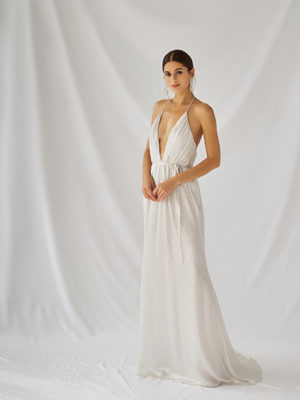 Moss Gown Inspirated By Botanica of Alexandra Grecco 2021 Bridal Collection