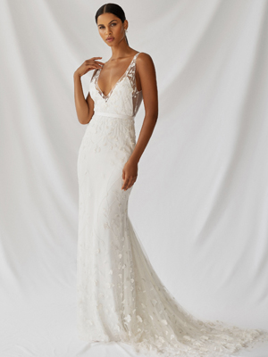 Zinnia Gown Inspirated By Botanica of Alexandra Grecco 2021 Bridal Collection