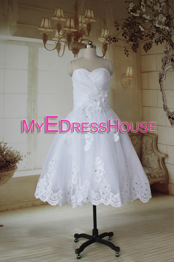 130073R Myedresshouse Haute Couture Sweetheart Neck Lace  Bridal Dress