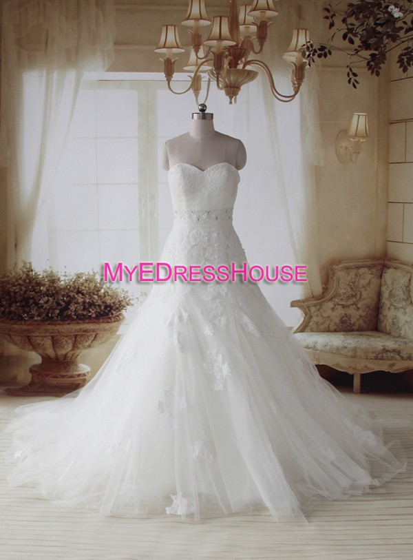 Arb Myedresshouse Haute Couture Sweetheart Neck Lace  Bridal Dress